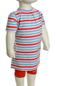 Lány Póló - Csíkos #lila-kék-piros 31417173 Gyerek póló
