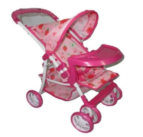 Baby Mix játék Babakocsi tálcával #rózsaszín