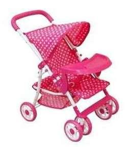 Baby Mix játék Babakocsi tálcával - Pöttyös #rózsaszín 31437851 Játék babakocsi
