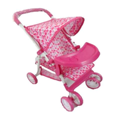 Baby Mix játék Babakocsi tálcával  - Alma #rózsaszín