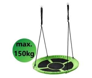 Ecotoys Play acélvázas Fészekhinta 100cm #zöld