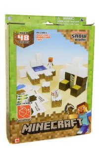 """Minecraft papírkészlet """"Hó biom"""" 48 darabos 31429000 Kreatív játék"""