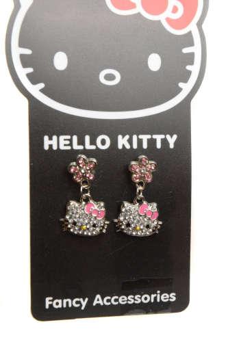 Hello Kitty Fülbevalók – díszköves