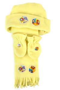 Disney polár sál sapka kesztyű szett 0-18hó #sárga 31430249 Disney