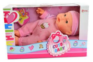 Cute Baby rózsaszín ruhás baba – Sweetie 31431610 Baba