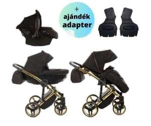 Junama Diamond S-line 3in1 multifunkciós Babakocsi + ajándék adapter #fekete-arany 31473074 Babakocsi