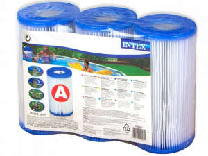 """INTEX """"A"""" tipusú szűrő patron, hármas csomag (29003) 31434776 Medence takaró, szűrő, vegyszer"""