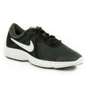 Nike Revolution 4 GS Junior fiú Futócipő #fekete 31438620 Gyerekcipő sportoláshoz
