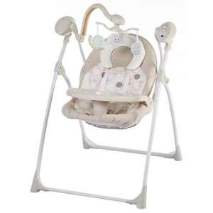 Baby Mix Cloud Prémium hordozható Elektromos hinta távirányítóval #bézs-barna 31438701 Pihenőszék, elektromos hinta
