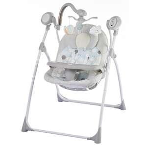 Baby Mix Cloud Prémium hordozható Elektromos hinta távirányítóval #szürke 31438702 Pihenőszék, elektromos hinta