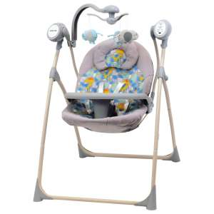 Baby Mix Cloud Prémium hordozható Elektromos hinta távirányítóval - Dínó #szürke 31438706 Pihenőszék, elektromos hinta