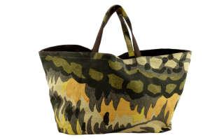 Lacoste vászon női Válltáska #sárga-zöld 31439349 Női táska és pénztárca