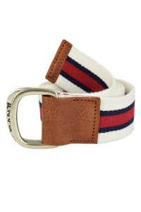 Gant fehér-kék-piros csíkos textil öv – S/M 31439528 Férfi öv
