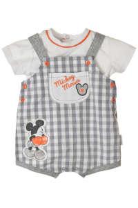 Mickey Egér baba póló és kantáros nadrág #szürke-fehér 31439585 Ruha együttes, szett gyerekeknek
