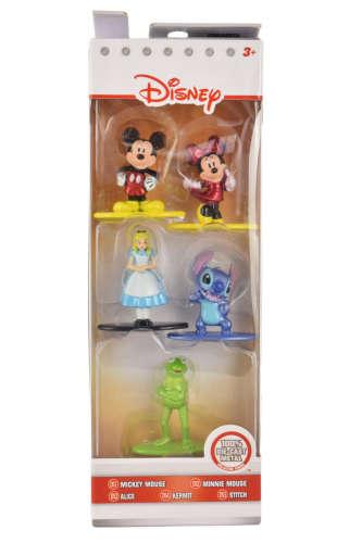 Disney szereplők fém figurák – 5 db, 5 cm