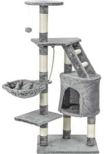 Funfit 5 szintes macska szórakoztató központ és Kaparófa #szürke 31440932 Bútor, kaparófa, ágy kisállatoknak