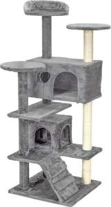 Funfit 7 szintes macska szórakoztató központ és Kaparófa #szürke 31440954 Bútor, kaparófa, ágy kisállatoknak