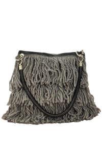 Rinascimento szürke-fekete, rojtos női válltáska 31441162 Női táska és pénztárca