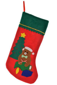 Nagy méretű, mackós karácsonyi csizma ajándékozáshoz 31441206 Ajándék táska, csomagolás
