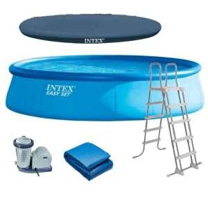 Intex Easy Set felfújható Medence vízforgatóval 549x122cm (26176GN) 31526795 Kerti medence