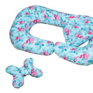 Zolta XXL 2in1 Ölelő- és Szoptatós párna + ajándék - Flamingó #kék-rózsaszín (04) 31443006 Szoptatós párna