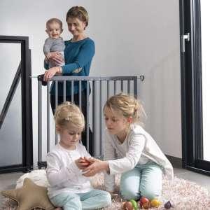 Badabulle Deco Pop fa Ajtórács #szürke 31444372 Biztonság a lakásban