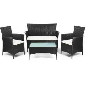 Eva négyszemélyes Kerti bútor garnitúra #fekete