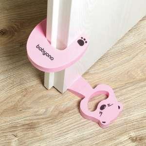 Baby Ono Ajtóbecsapódás-gátló és kitámasztó - Maci #rózsaszín 31445601 Biztonság a lakásban