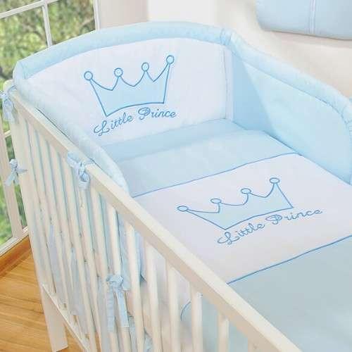 BabyLion Prémium 3 részes Ágyneműszett - Little Prince #kék