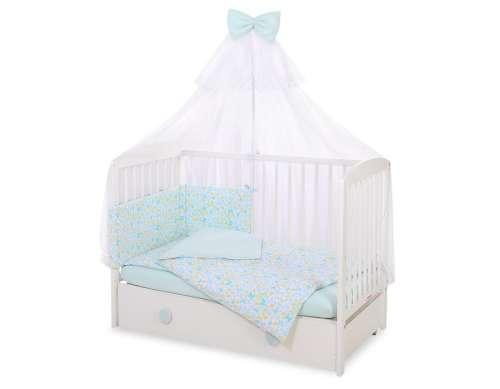 BabyLion Prémium 5 részes Ágynemű szett - Pillangók #kék