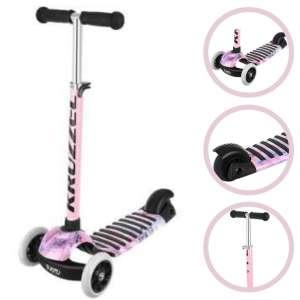 Kruzzel Rapid Pu háromkerekű Roller világító kerékkel #rózsaszín