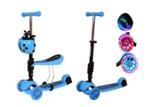 Edi 2in1 háromkerekű világító Roller - Katica #kék - Kiállított darab! 31447317 Roller és gördeszka