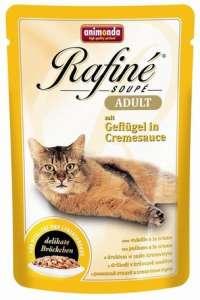 Animonda Rafine Soupé Adult – Szárnyas krémszószban (12 x 100 g) 1.2kg 31448079 Macskaeledel
