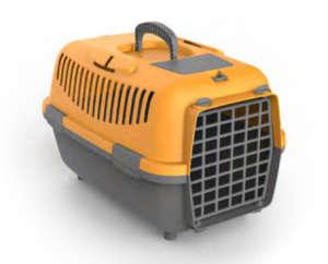 Nomade szállítóbox kistestű kutyáknak és macskáknak (48 x 32 x 32 cm; Narancssárga/Szürke)