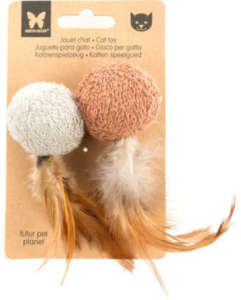 Martin Sellier 100% természetes anyagokból készült öko macskajáték, 2 db 5 cm-es labda