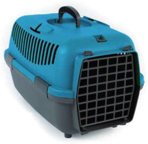 Nomade szállítóbox kistestű kutyáknak és macskáknak (48 x 32 x 32 cm; Türkízkék/Szürke)