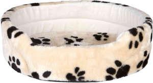 Trixie Charly tappancsmintás peremes kutyafekhely bézs színben (50 x 43 cm)