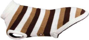 Trixie Hamilton barna/fehér csíkos kutyapulóver (XS   Haskörméret: 32 cm   Háthossz: 25 cm) 31452496 Kisállat ruházat (ruha, cipő)
