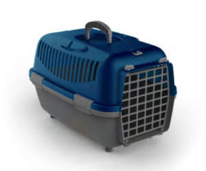 Nomade szállítóbox kistestű kutyáknak és macskáknak (48 x 32 x 32 cm; Kék/Szürke)