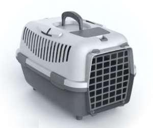 Nomade szállítóbox kistestű kutyáknak és macskáknak (48 x 32 x 32 cm; Világosszürke/Szürke)