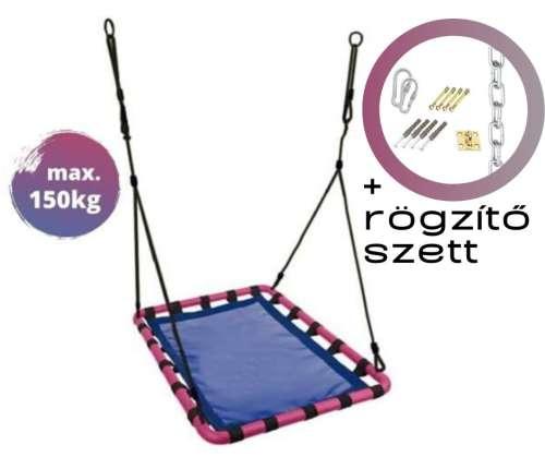 Zolta Swing négyszögletű fémvázas Fészekhinta 80x118cm + rögzítő szett (Z02) #kék 31476409