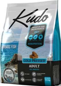 Kudo Adriatic Fish - hidegen sajtolt felnőtt kutyatáp 7,5 kg (3 x 2,5 kg) 31477496 Kutyaeledel