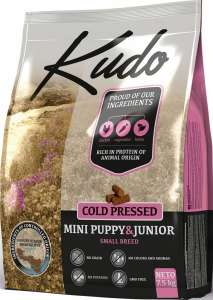 Kudo Mini Puppy & Junior - hidegen sajtolt kölyök kutyatáp 7,5 kg (3 x 2,5 kg) 31477987 Kutyaeledel