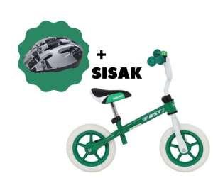 Baby Mix Fast Futóbicikli + biztonsági sisak #zöld