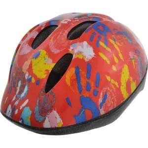 Bellelli biciklis gyerek Sisak S méretben - Hand Print Orange Red 31493746 Biciklis védőfelszerelés, kiegészítő