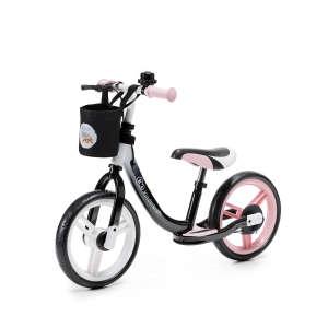 Kinderkraft Space Futóbicikli fékkel és lábtartóval #rózsaszín