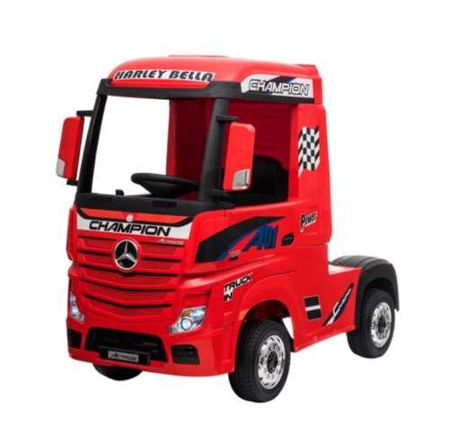Mercedes AMG Actros Elektromos kamion távirányítóval 12V #piros