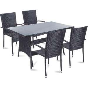 Fieldmann négyszemélyes Kerti bútor garnitúra RACHEL #fekete