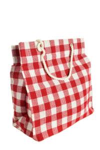 Piros- fehér kockás ajándéktasak 31492989 Ajándék táska, csomagolás