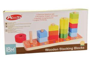 Számos fa rakosgatós torony játék 31498206 Fejlesztő játék bölcsiseknek